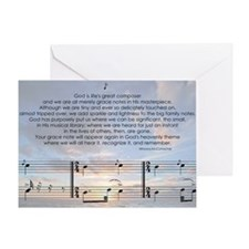 Grace Note l4x10 copy Greeting Card