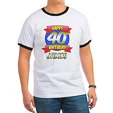 James Happy 40th Birthday T