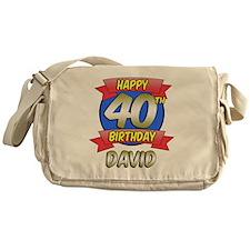 David Happy 40th Birthday Messenger Bag