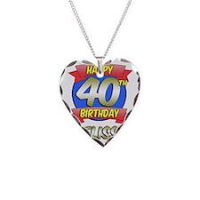 Melissa Happy 40th Birthday Necklace
