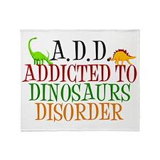 dinosauraddict Throw Blanket