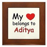 My heart belongs to aditya Framed Tile