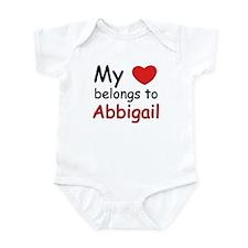 My heart belongs to abbigail Infant Bodysuit