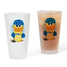 Hockey-Duck Drinking Glass