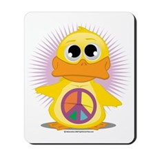 Peace-Sign-Duck Mousepad