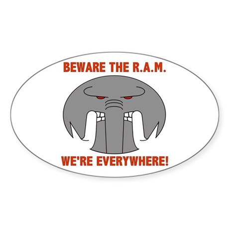 Republican Attack Machine Oval Sticker