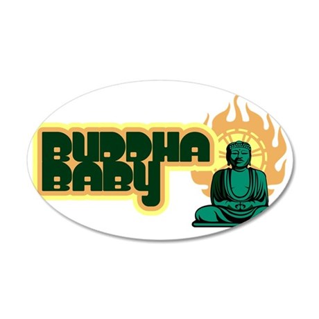 buddha_baby 35x21 Oval Wall Decal