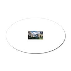 YosemiteValley14x10 20x12 Oval Wall Decal