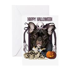 HalloweenNightmare_French_Bulldog_Te Greeting Card