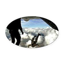 USAF PJ LFP Oval Car Magnet
