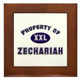 My heart belongs to zechariah Framed Tile