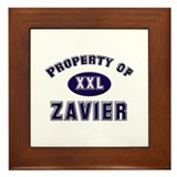 My heart belongs to zavier Framed Tile