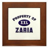 My heart belongs to zaria Framed Tile