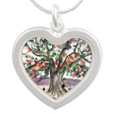 IMG_0014_treeonGrandeAnse Silver Heart Necklace