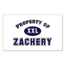 My heart belongs to zachery Rectangle Decal