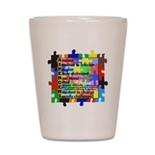 asd traits fut no white Shot Glass