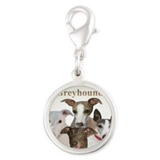 Greyhound Cant Have Just One A Silver Round Charm
