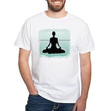 3-Yogasittingplastergreenstripest Shirt