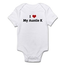 I Love My Auntie K Infant Bodysuit