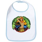 Hawaiian Hula Girl Bib