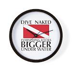 Dive Naked Wall Clock