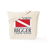 Dive Naked Tote Bag
