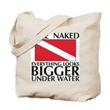 Dive Naked Tote Bag