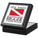 Dive Naked Keepsake Box
