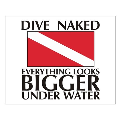 Dive Naked Small Poster