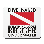 Dive Naked Mousepad