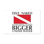 Dive Naked Mini Poster Print