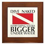 Dive Naked Framed Tile