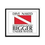 Dive Naked Framed Panel Print