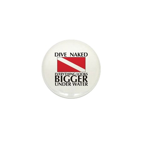 Dive Naked Mini Button (100 pack)