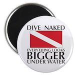 """Dive Naked 2.25"""" Magnet (100 pack)"""