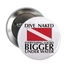 "Dive Naked 2.25"" Button (10 pack)"