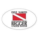 Dive Naked Oval Decal