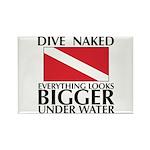Dive Naked Rectangle Magnet (10 pack)