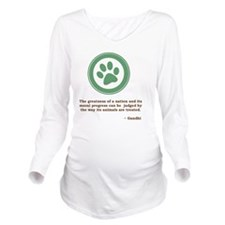 GandhiGreenPaw Long Sleeve Maternity T-Shirt