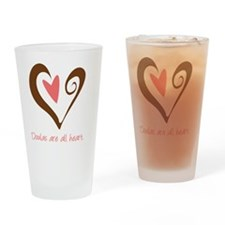 DoulaHeartBrown Drinking Glass