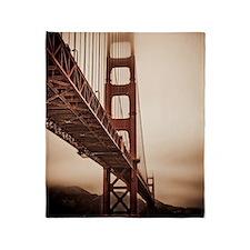 Golden Gate Bridge in The Fog Throw Blanket