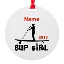 SUP Girl (Personalized) Ornament
