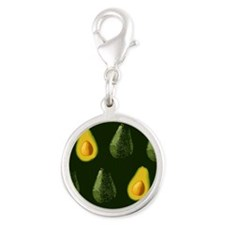 avocados_9x12 Silver Round Charm