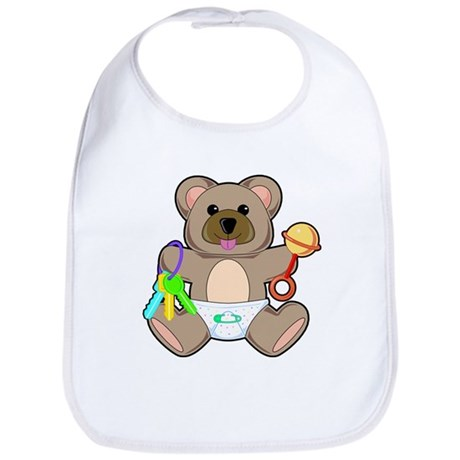 Cute Baby Teddy Bear Animal Bib