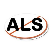ALS crossout Oval Car Magnet