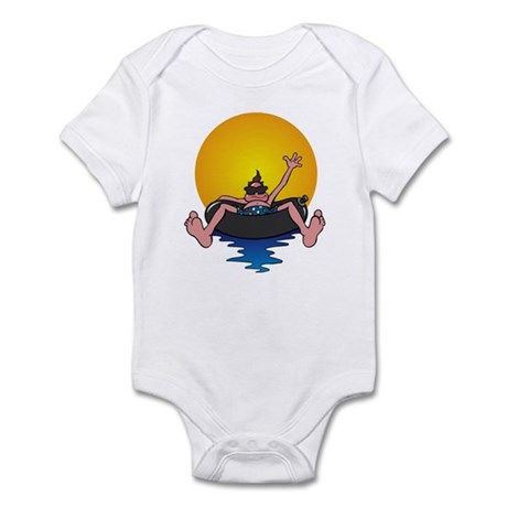 Tubing down the River Infant Bodysuit