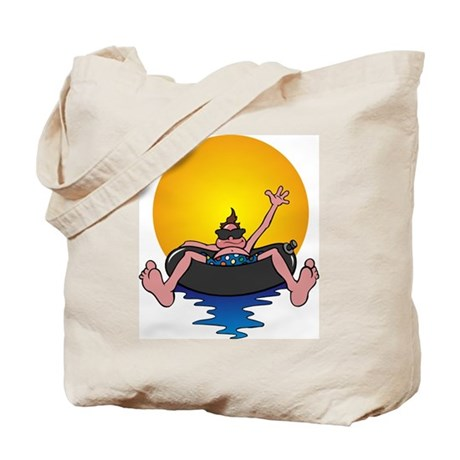 Tubing down the River Tote Bag