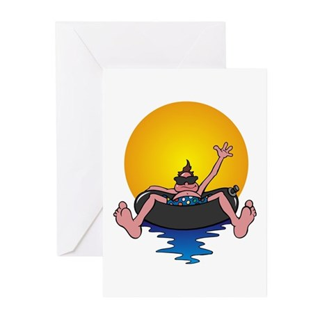 Tubing down the River Greeting Cards (Pk of 10
