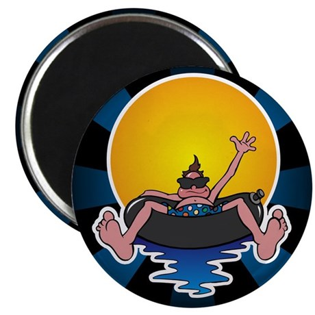 "Tubing down the River 2.25"" Magnet (100 pack)"