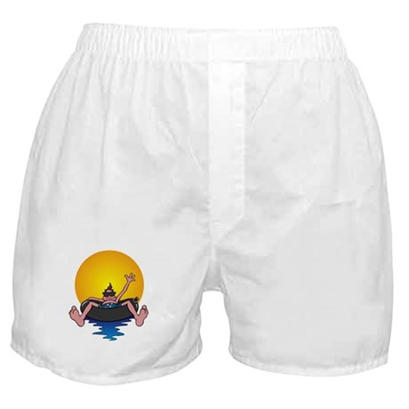Tubing down the River Boxer Shorts